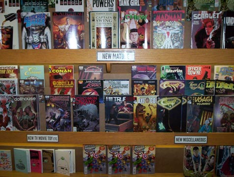 New mature, media-related, and independent comics.